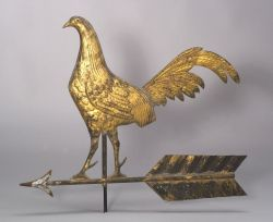 Gilded Molded Copper Gamecock Weather Vane