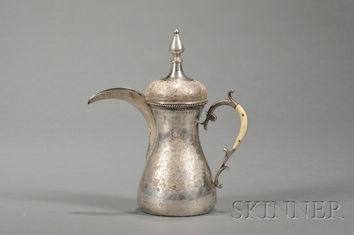 Engraved Silver Coffeepot