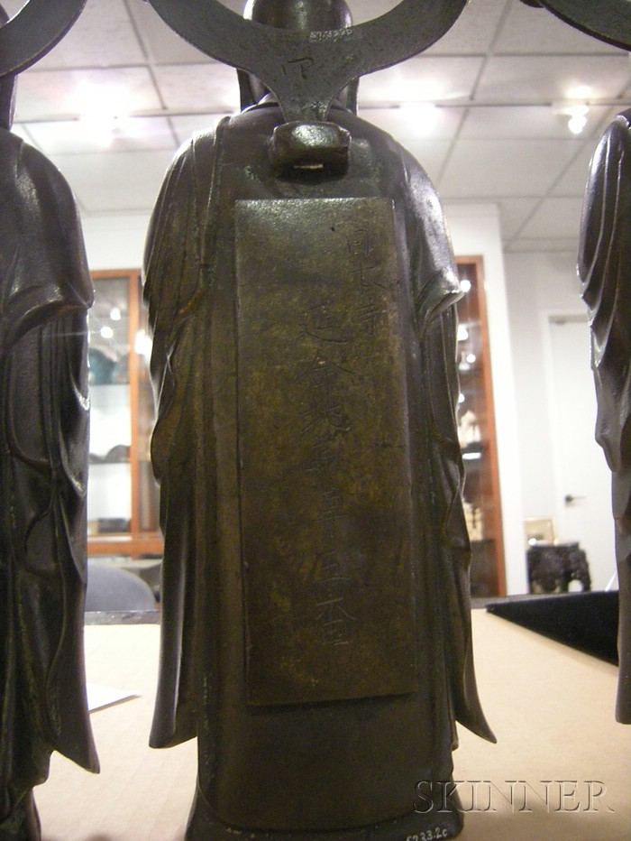 Three Bronze Monks