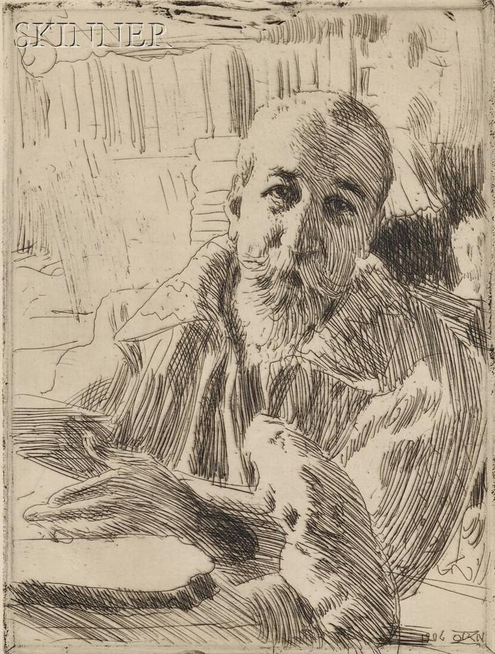 Anders Zorn (Swedish, 1860-1920)      Anatole France