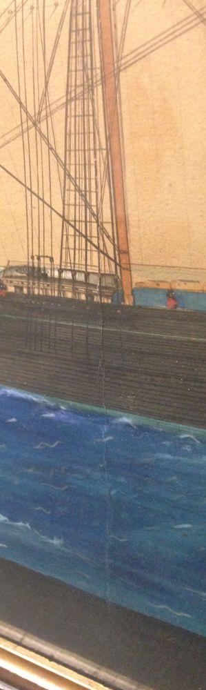 Maltese School, 19th Century      Portrait of the American Merchant Ship Brunswick   Entering Malta.