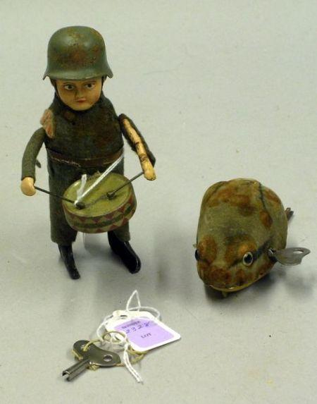 Two Schuco Clockwork Toys
