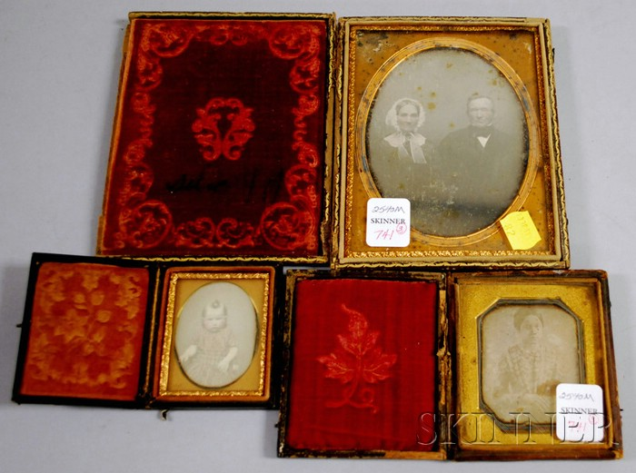 Three 19th Century Cased Daguerreotype Photographic Portraits