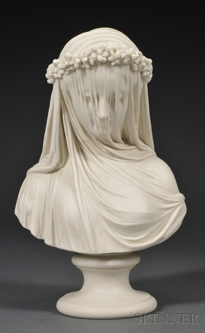 Copeland Parian Bust of The Bride