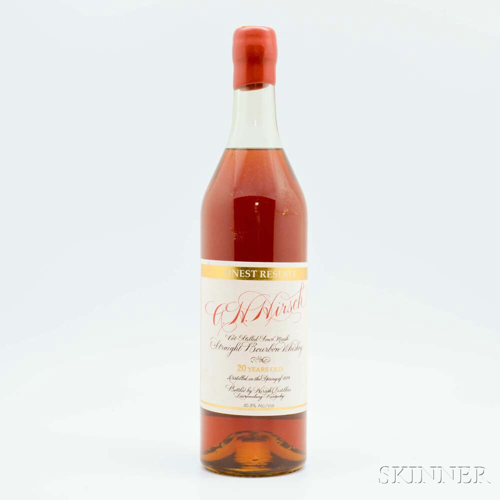 AH Hirsch Finest Reserve 20 Years Old 1974, 1 750ml bottle