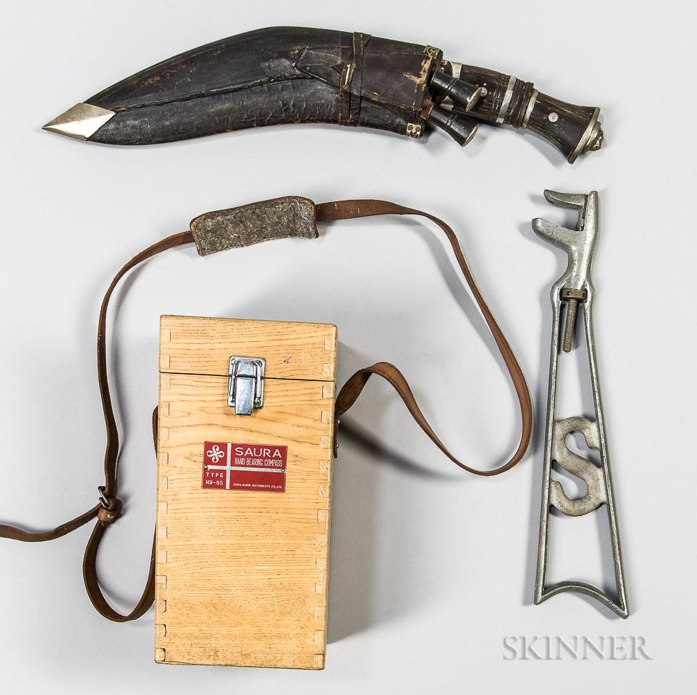 Saura Compass, Gurkha Knife, and a Detachable Stock