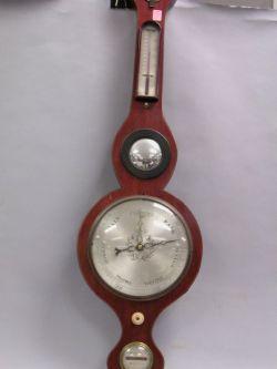 Vannini Mahogany Veneer Inlaid Barometer