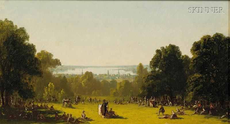 Sanford Robinson Gifford (American, 1823-1880)      Sunday Prayers