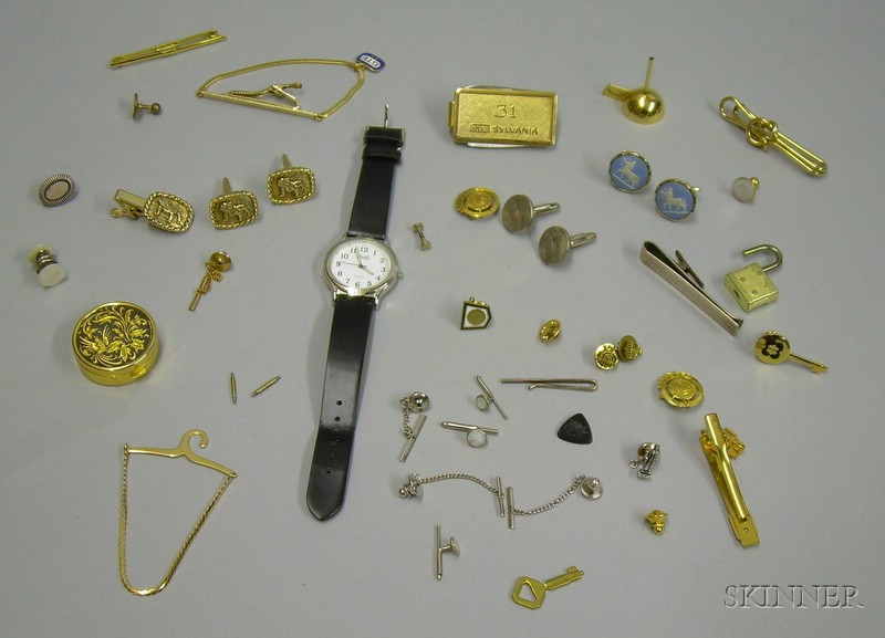 Assortment of Mens Jewelry and Other Items.