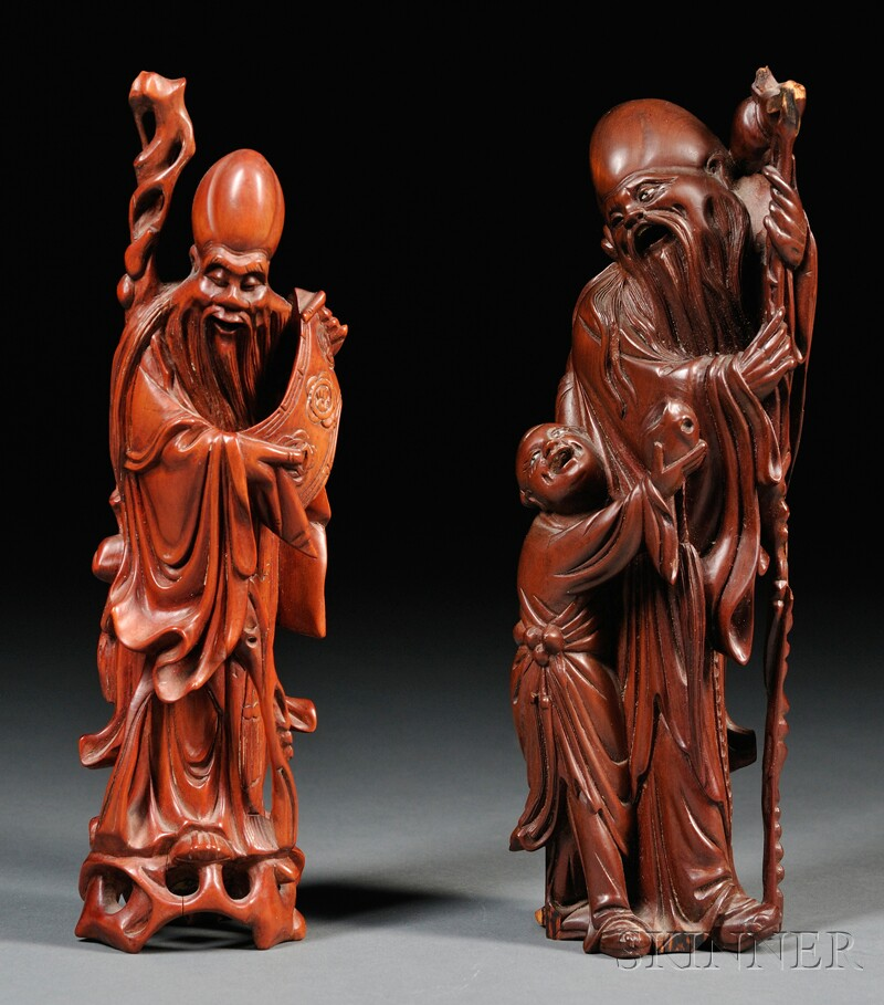 Pair of Boxwood Carvings