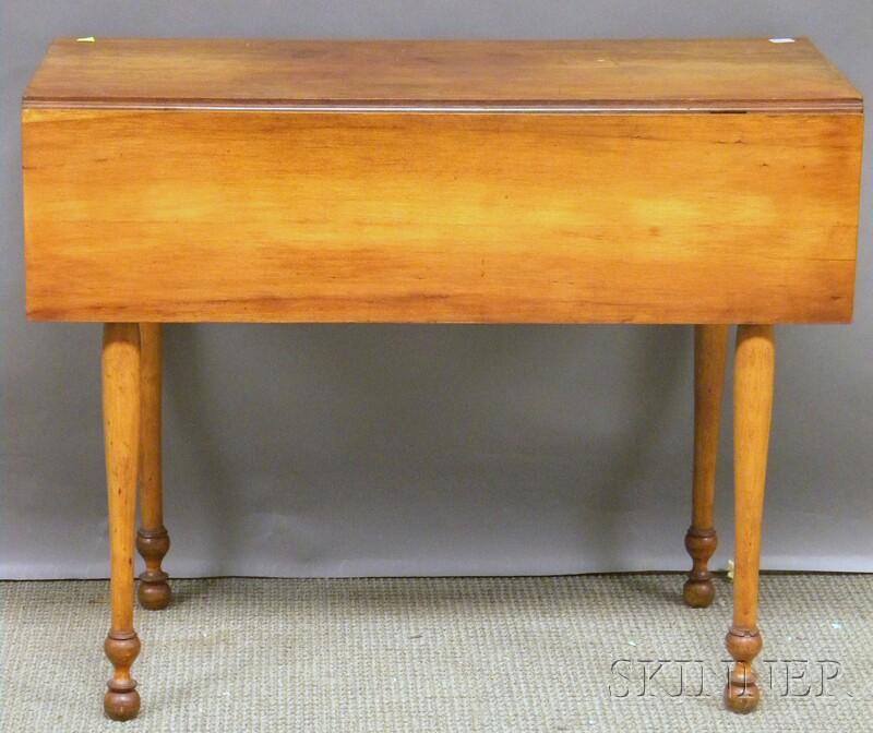 Federal Maple Drop-leaf Pembroke Table.