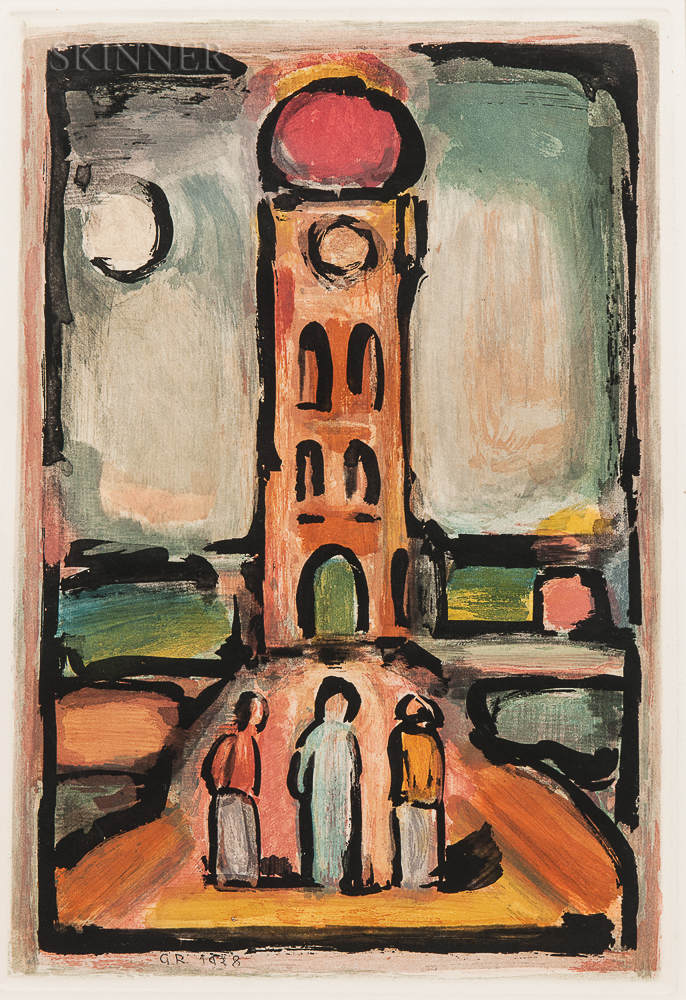 Georges Rouault (French, 1871-1958)      Paysage à la tour