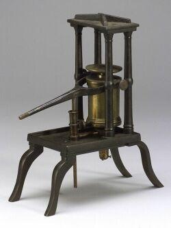Small Demonstration Hydraulic Press By J. M. Wightman