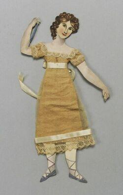 Handmade Aqua-tint Doll in Frame