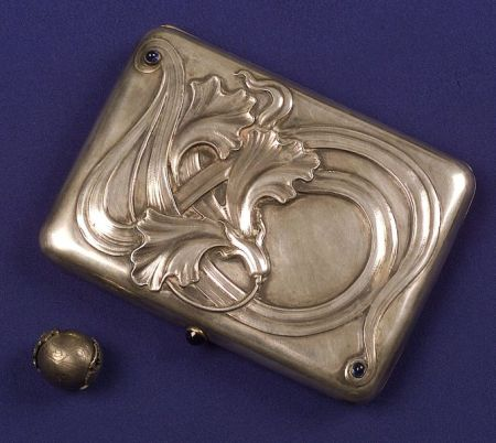 Art Nouveau Silver, Gilt and Gem-set Box, Russia
