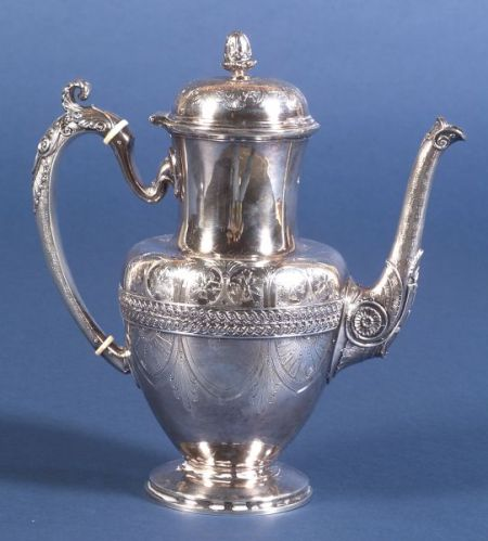 Tiffany & Co. Sterling Aesthetic Movement Coffeepot