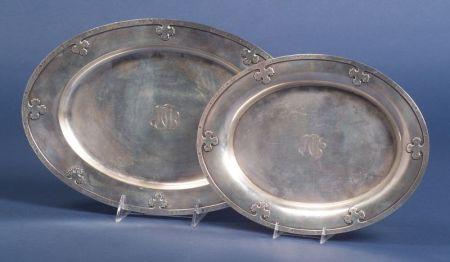 """Two Wallace Sterling """"Carmel"""" Platters"""