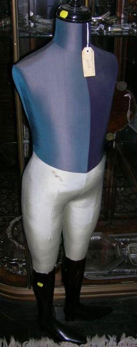 British Ebonized and Fabric Youths or Jockey Mannequin.