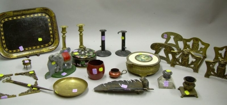 Group of Assorted Desk and Table Items