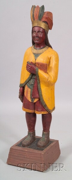 Carved and Painted Tobacconist Figure