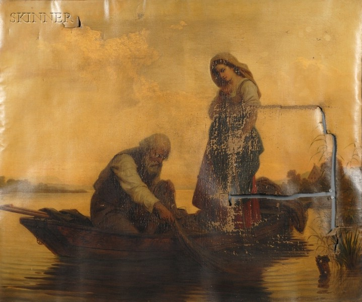Bernhard Reinhold (German, 1824-1892)      A Fisherman and His Daughter