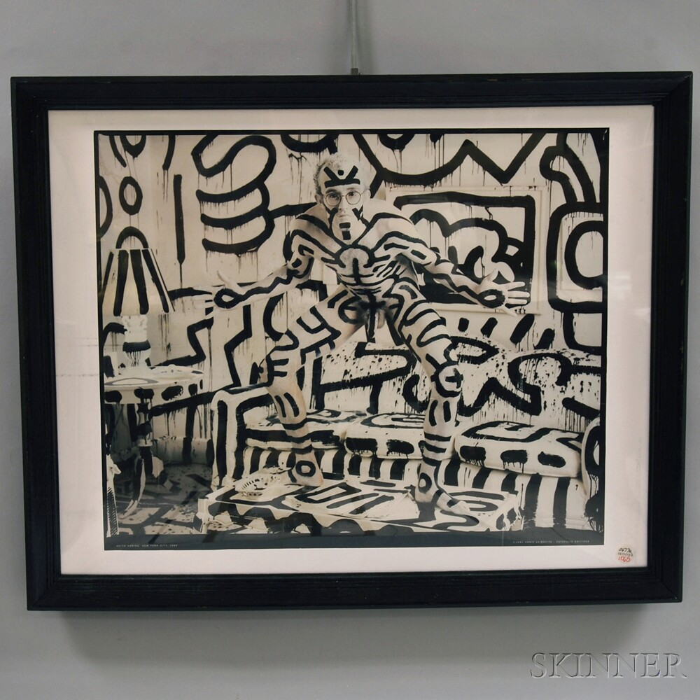 Framed Poster of Keith Haring Photographed by Annie Leibovitz   Sale ...