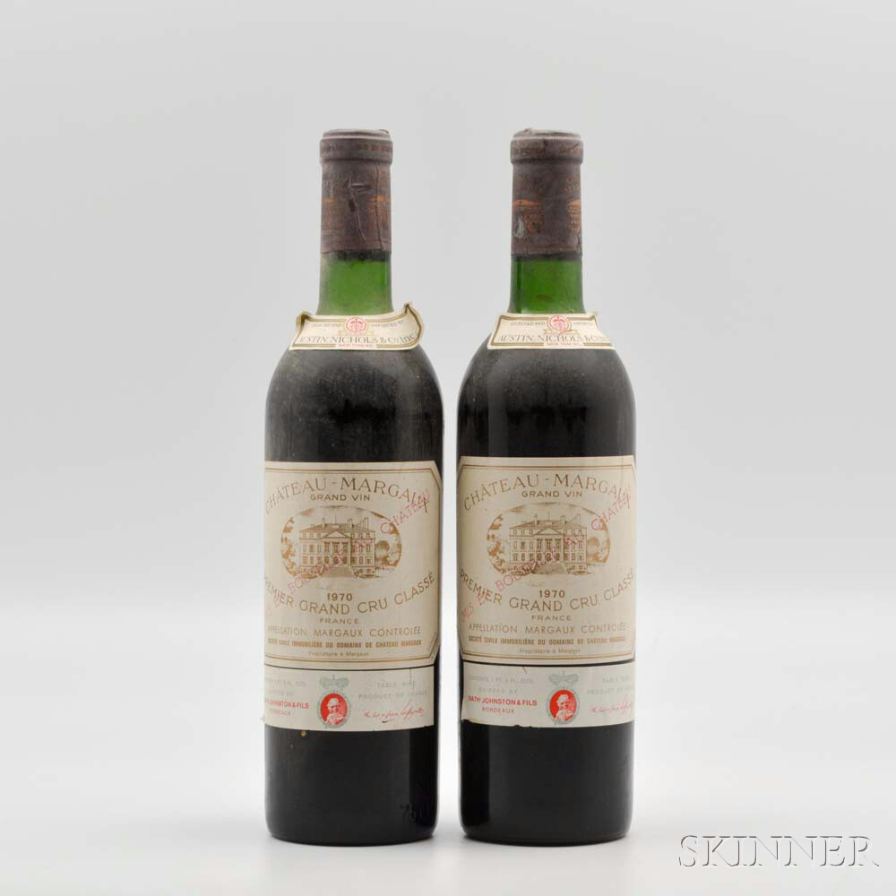 Chateau Margaux 1970, 2 bottles