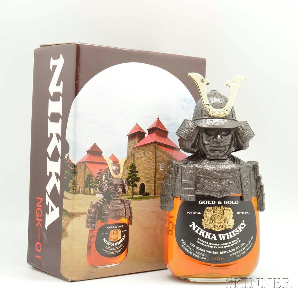 Nikka Gold & Gold Samurai, 1 750ml bottle (oc)