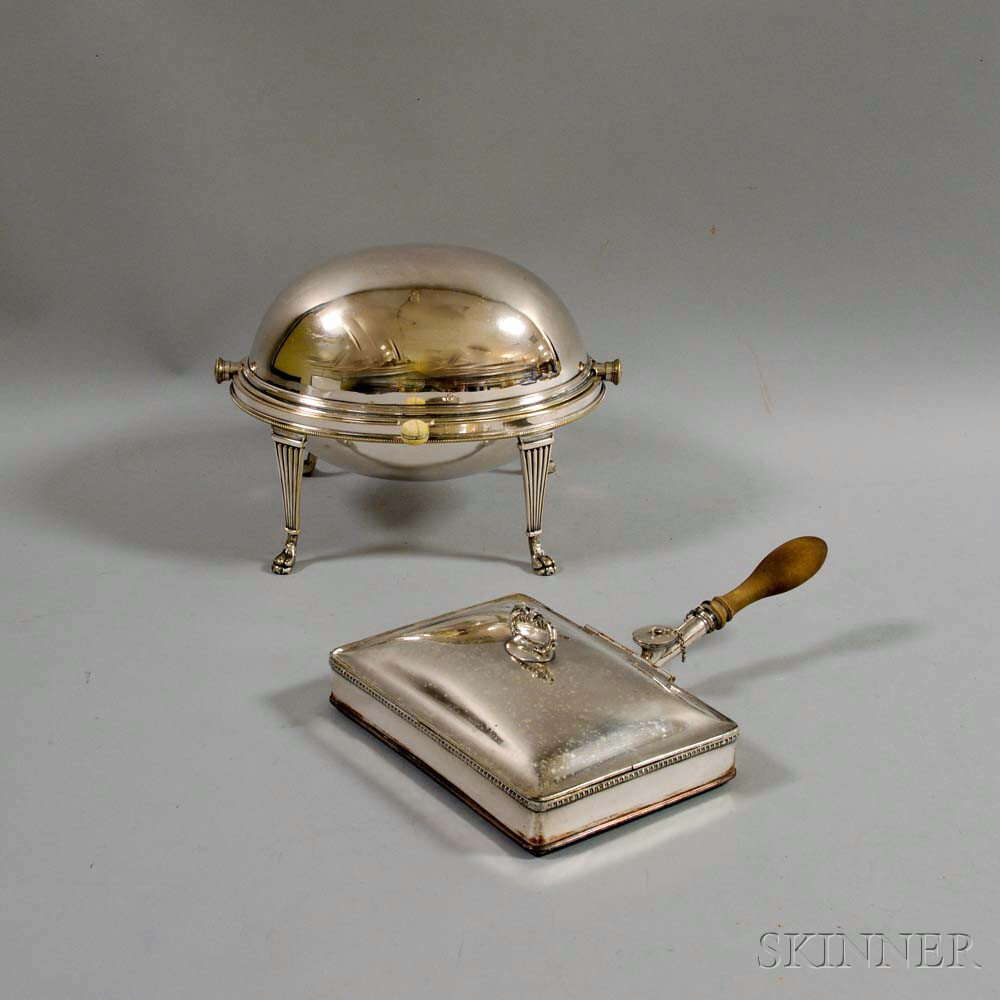 Two Silver-plated Servers