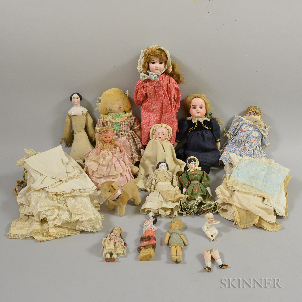 Group of Dolls and Doll Parts