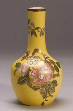 Royal Worcester Porcelain Bottle-form Vase