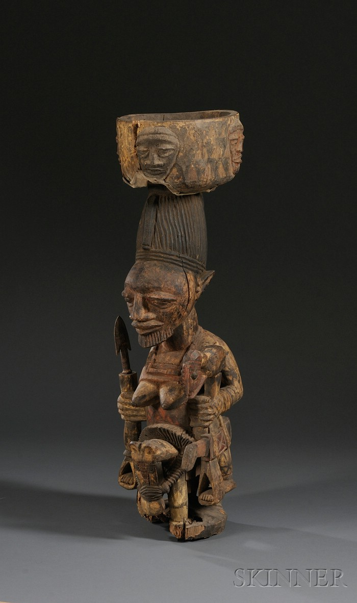 African Carved Wood Shrine Figure Sale Number 2533b Lot Number 218 Skinner Auctioneers