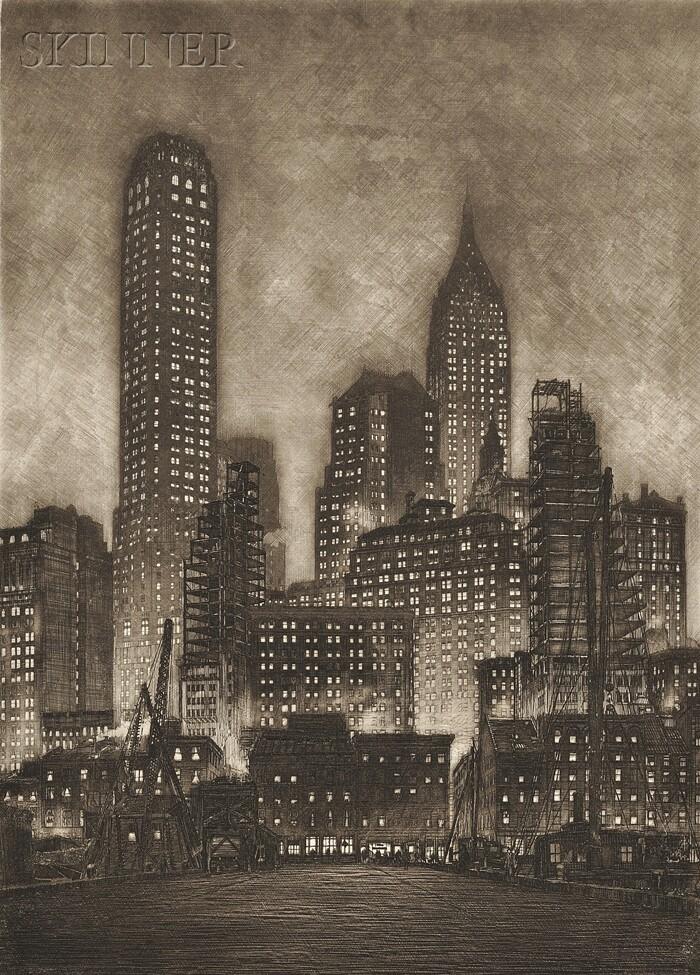 Samuel V. Chamberlain (American, 1895-1975)      Manhattan Twilight