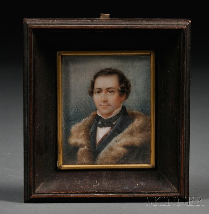 Framed Miniature Portrait on Ivory