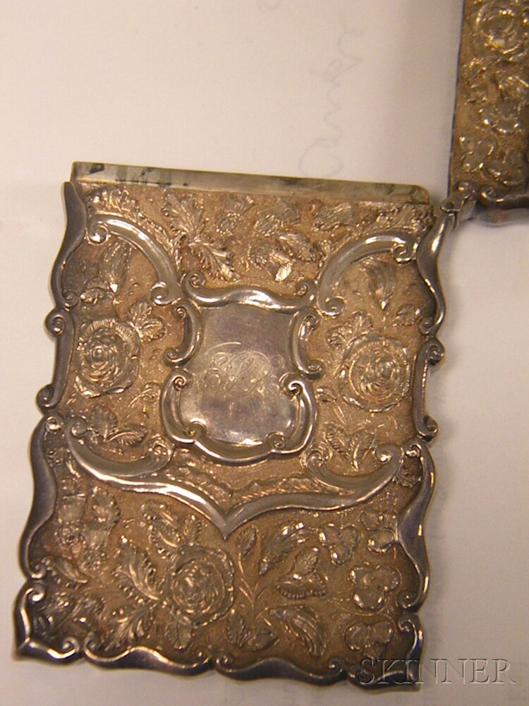 Five Silver and Silver-mounted Personal Items