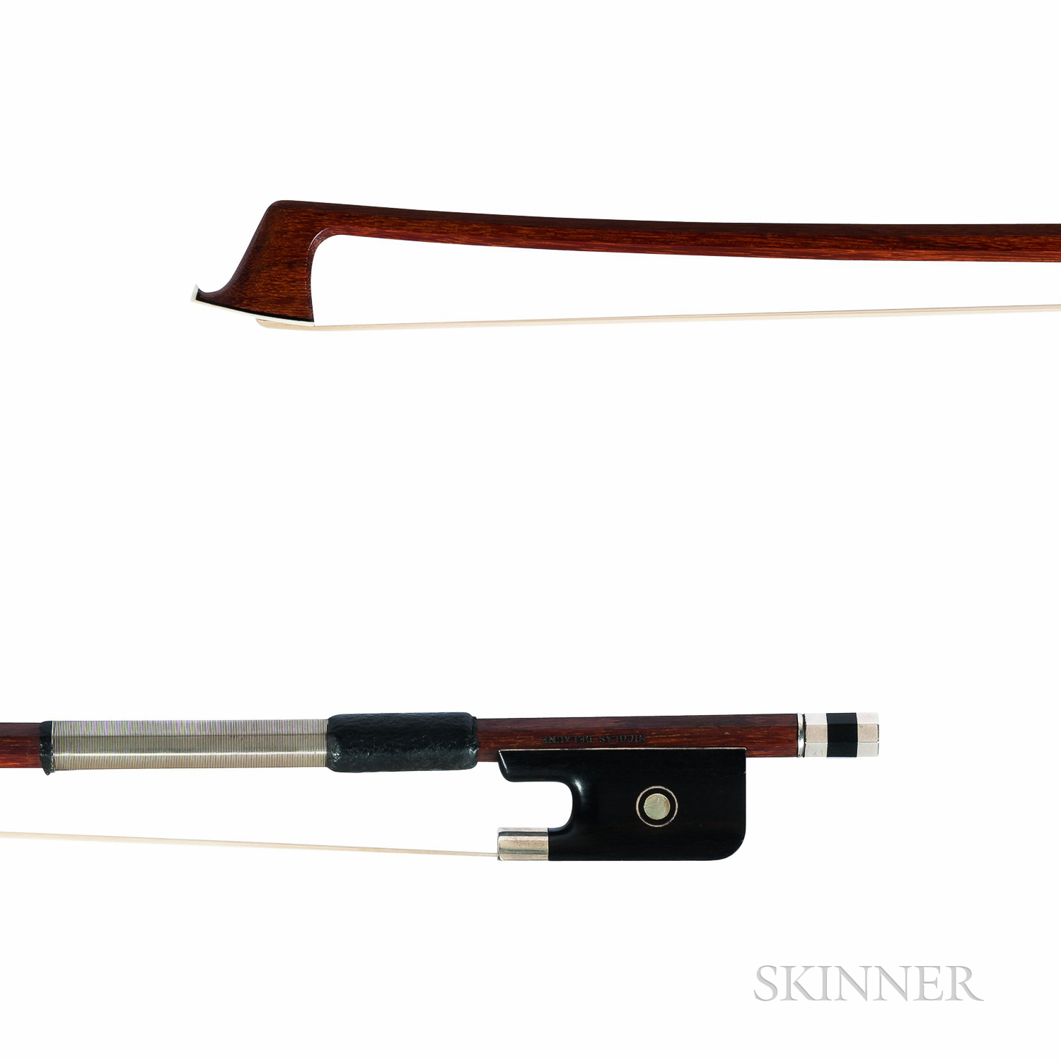 French Silver-mounted Viola Bow, Daber Workshop