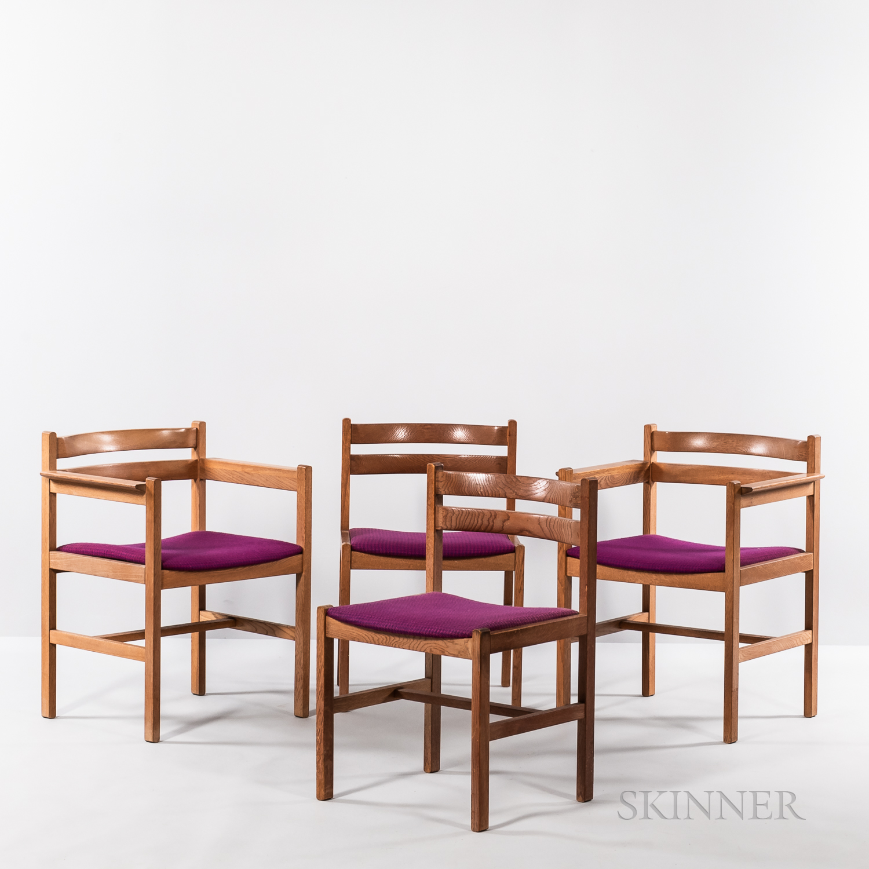 Four Borge Mogensen (Danish, 1914-1972) Chairs