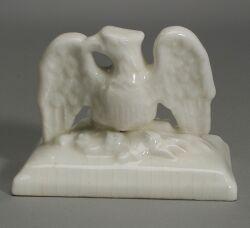 Charles Cartlidge White Glazed Porcelain Eagle Paperweight