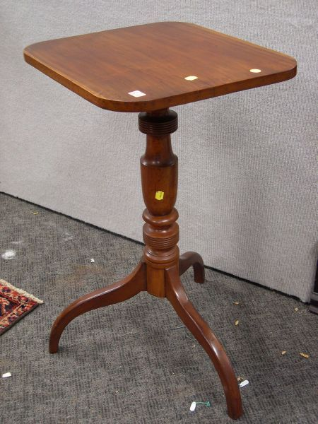 Cherry Tilt-top Candlestand.