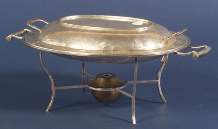 Mexican Sterling Entree Chafing Dish on Stand