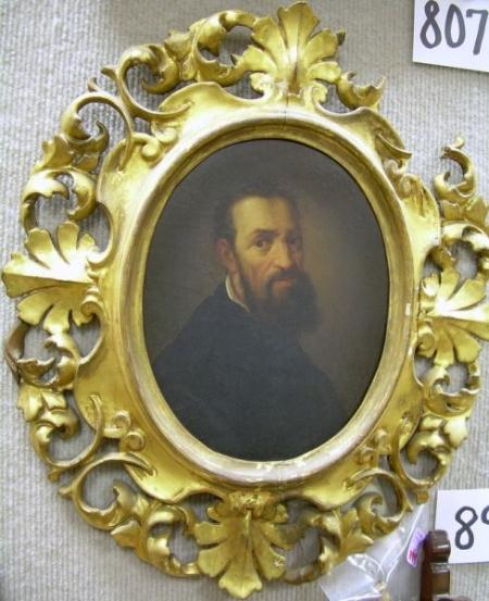 Framed Oil on Board Portrait of a Man