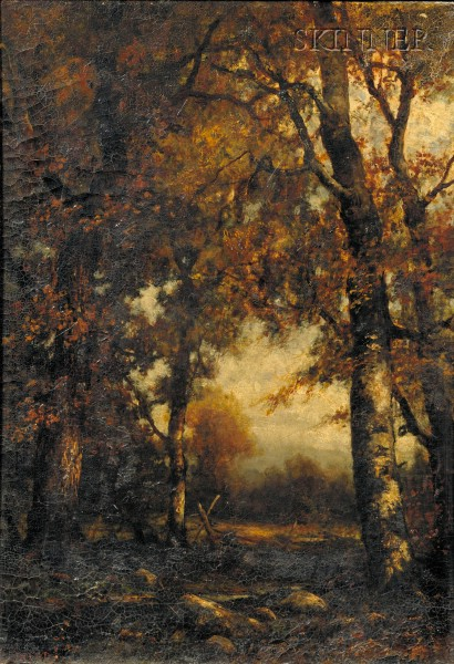 Charles Linford (American, 1846-1897)      Clearing in the Forest