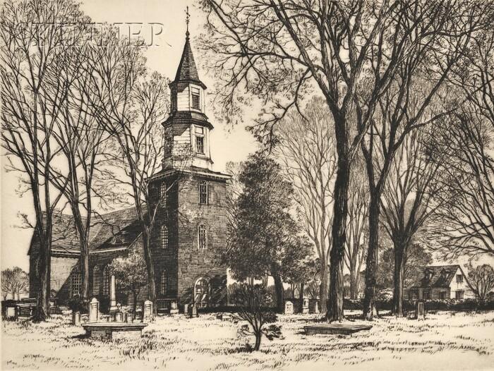 Samuel V. Chamberlain (American, 1895-1975) Lot of Three Williamsburg Proof Impressions: Saint George Tucker House, Williamsburg, 19...