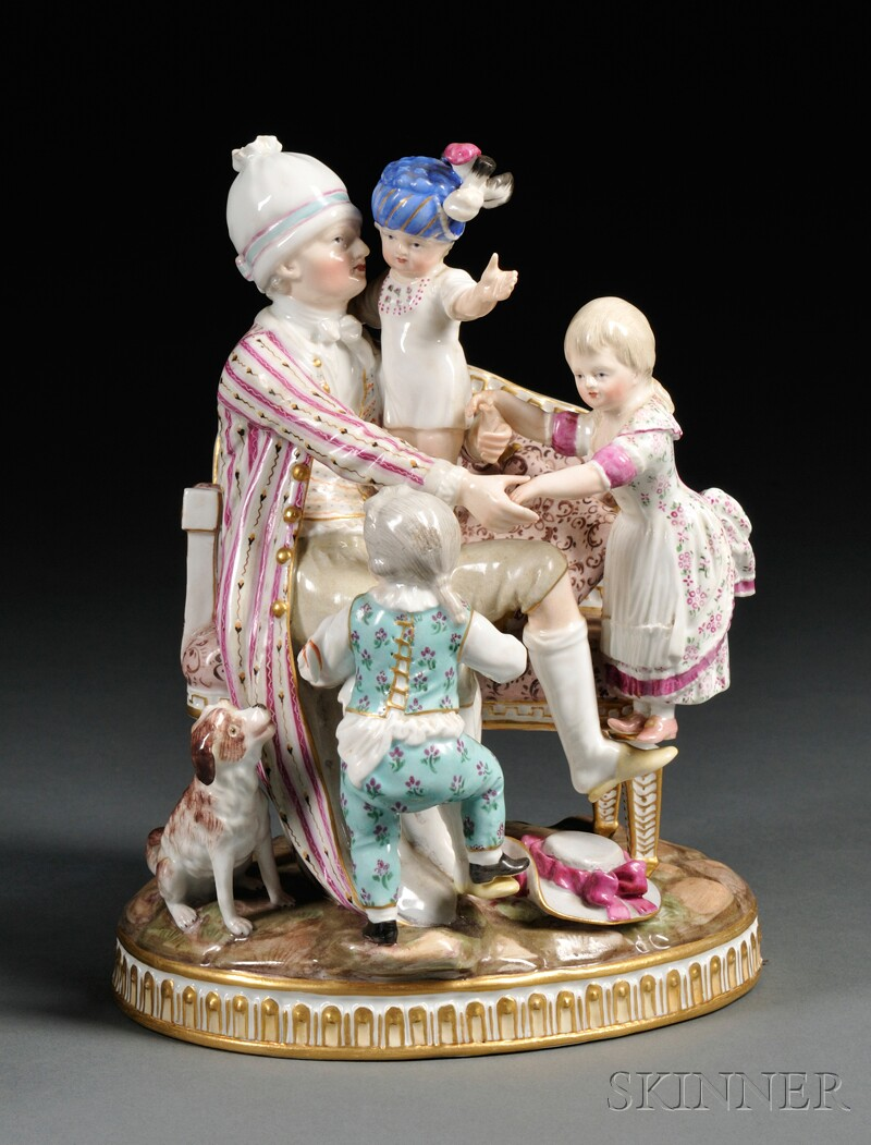 Meissen Figural Group The Good Father