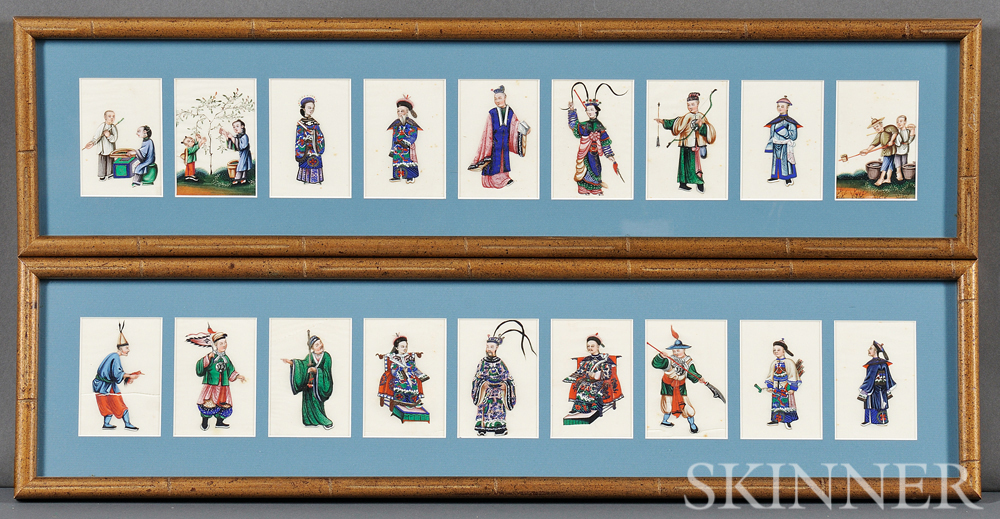 Two Groups of Miniature Paintings