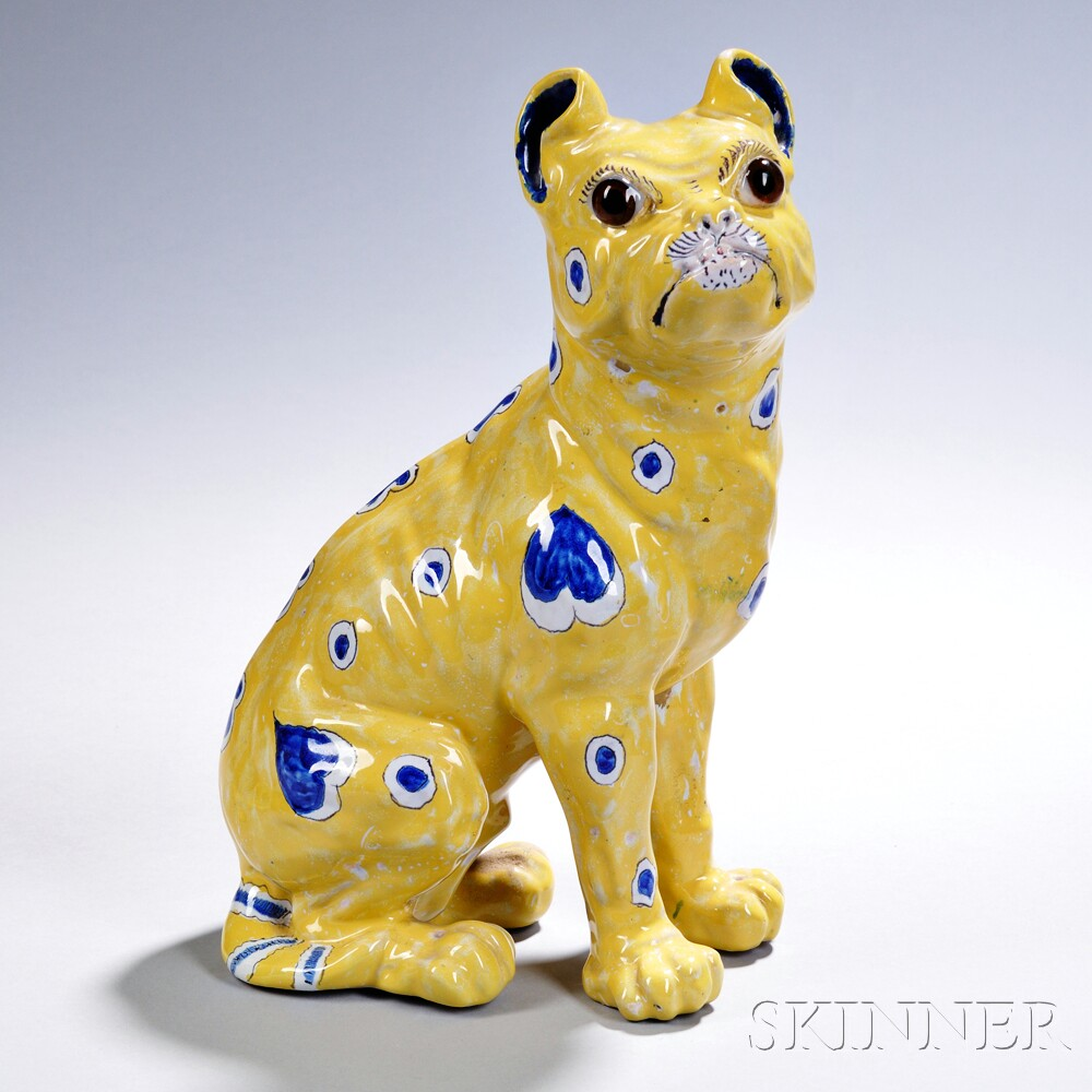 Faience Model of a Bulldog