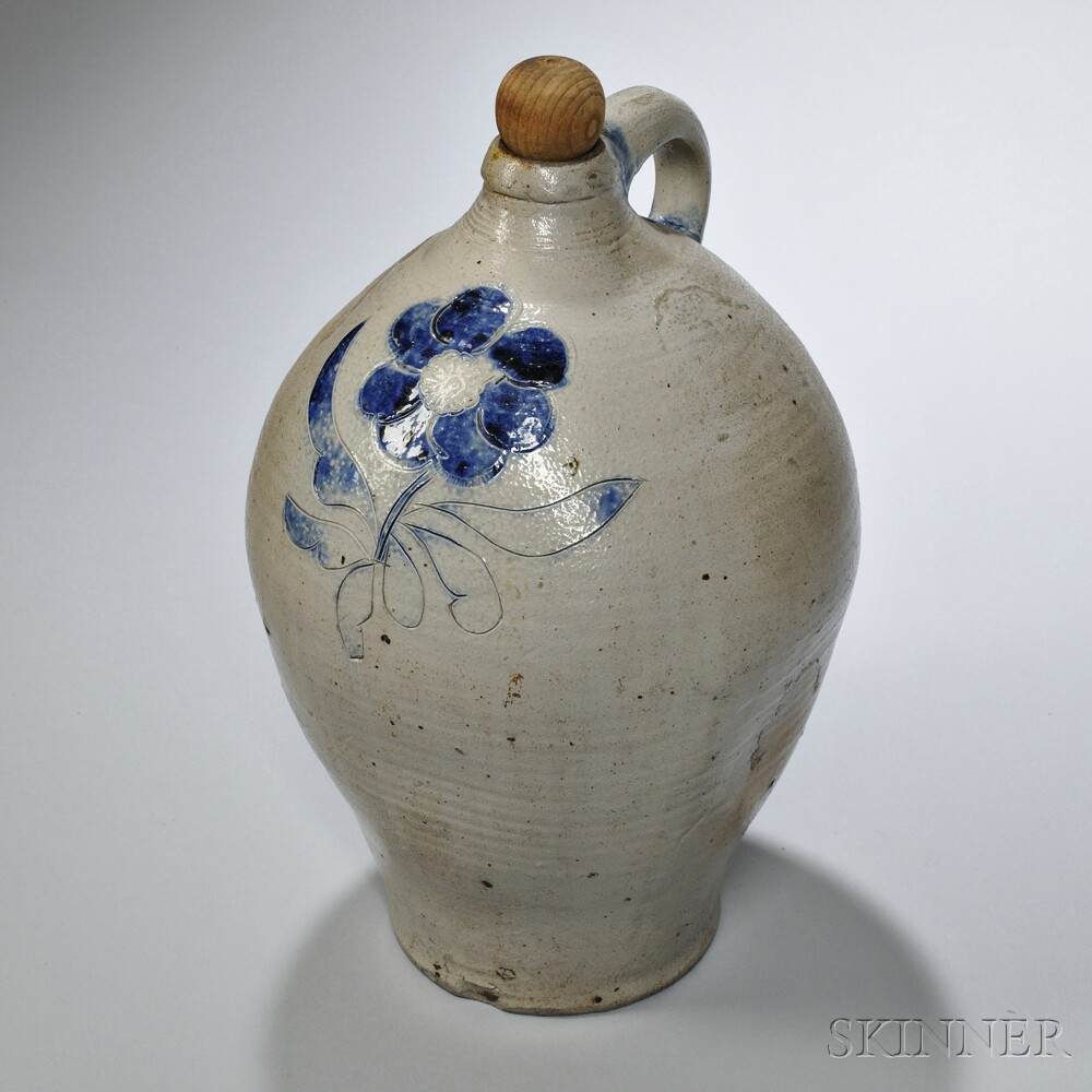 Cobalt-decorated Stoneware Jug