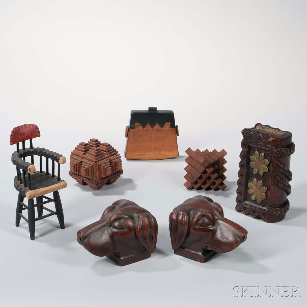 Seven Small Folk Art Items