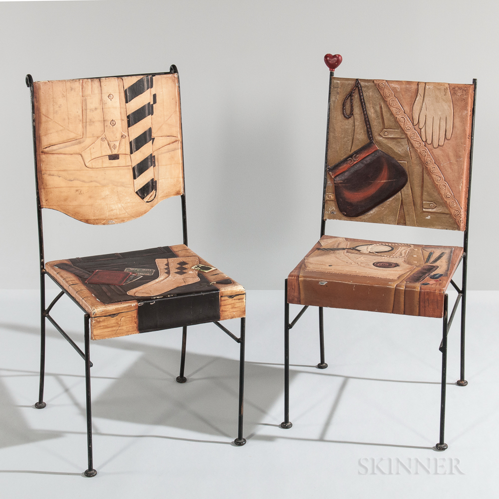 Pair of His-and-Hers Chairs
