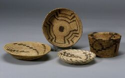 Four Southwest Coiled Baskets